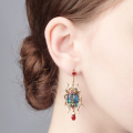Alternate Image For The Bejewelled Beetle Statement Earrings