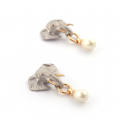Alternate Image For Elephant Pearl Drop Earrings