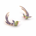 Alternate Image For Bird of Paradise Swooping Earring