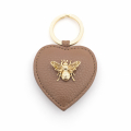 Alternate Image For Queen Bee Leather Keyring - Tan