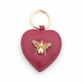 Alternate Image For Queen Bee Leather Keyring - Red