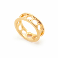 Alternate Image For Archive Honeycomb Ring - Gold - Size Small