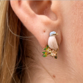 Alternate Image For Sparrow & Gold Crest Studs (Gold)