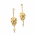Alternate Image For Lion Statement Crystal Drop Earrings