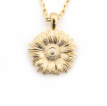 Alternate Image For Mini Daisy Pendant - Gold