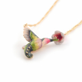 Alternate Image For Hummingbird & Trumpeting Flower Necklace