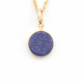 Alternate Image For Filigree Disc Pendant Mini - Lapis