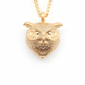 Alternate Image For Owl Pendant - Gold