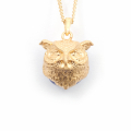 Alternate Image For Owl Orb Pendant - Gold
