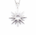 Alternate Image For Starburst Pendant - Rhodium