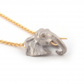 Alternate Image For Elephant & Crystal Pendant
