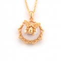 Alternate Image For Bee Pearl Filigree Pendant