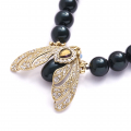 Alternate Image For Bejewelled Moth Statement Necklace