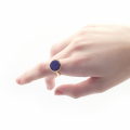 Alternate Image For Mini Filigree Disc Open Ring - Lapis