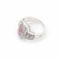 Alternate Image For Archive Pink Crystal Ring - Size Large