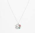 Alternate Image For Flower Leaping Rabbit Necklace