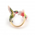 Alternate Image For Hummingbird & Flower Open Ring