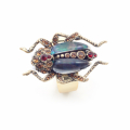 Alternate Image For The Bejewelled Beetle Ring