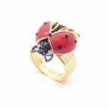 Alternate Image For Bejewelled Ladybird Ring