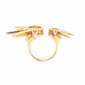Alternate Image For Starburst Statement Ring - Gold