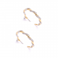 Alternate Image For Bejewelled Snake Hoops