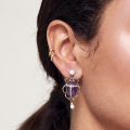 Alternate Image For Bejewelled Scarab Beetle Earrings