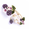 Alternate Image For Blackberry & Mouse Brooch