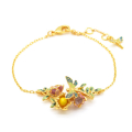 Alternate Image For Dragonfly Floral Bracelet