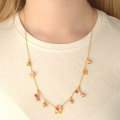 Alternate Image For Cherry Blossom Statement Charm Necklace