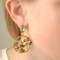 Alternate Image For Dragonfly & Floral Statement Earrings