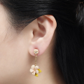 Alternate Image For Cherry Blossom Drop Earring - Gold