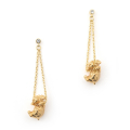 Alternate Image For Puppy Wally Drop Earring - Gold