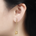 Alternate Image For Puppy Spaniel Drop Earring - Gold