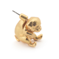 Alternate Image For Puppy Pug Through Earring & Crystal Stud - Gold