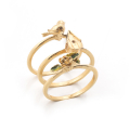Alternate Image For Bird House Stacking Ring - Gold