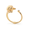 Alternate Image For Puppy Pug Open Ring - Gold