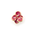 Alternate Image For Single Flower Stud - Fuchsia