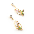 Alternate Image For Long Swooping Hummingbird Earrings