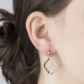 Alternate Image For Filigree Morocco Earrings - Mother of Pearl