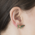 Alternate Image For Butterfly Stud - Mint