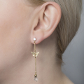 Alternate Image For Butterfly & Crystal Drop Earring