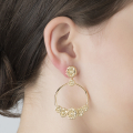 Alternate Image For Daisy Circle Earrings - Gold