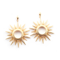 Alternate Image For Starburst Statement Earring - Gold