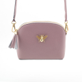 Alternate Image For Queen Bee Leather Handbag - Blush