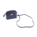 Alternate Image For Queen Bee Leather Handbag - Navy