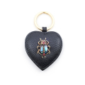 Alternate Image For Bejewelled Beetle Leather Keyring