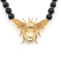 Alternate Image For Queen Bee Statement Necklace - Jet