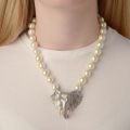 Alternate Image For Elephant Pearl Statement Necklace