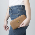 Alternate Image For Queen Bee Leather Purse - Tan