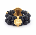 Alternate Image For Maxi Lion Head Bracelet (black)
